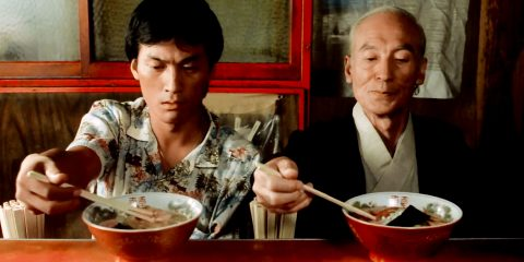 Tampopo still shot, ramen master with student