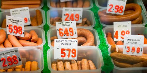 Sausages at Double DD Meat