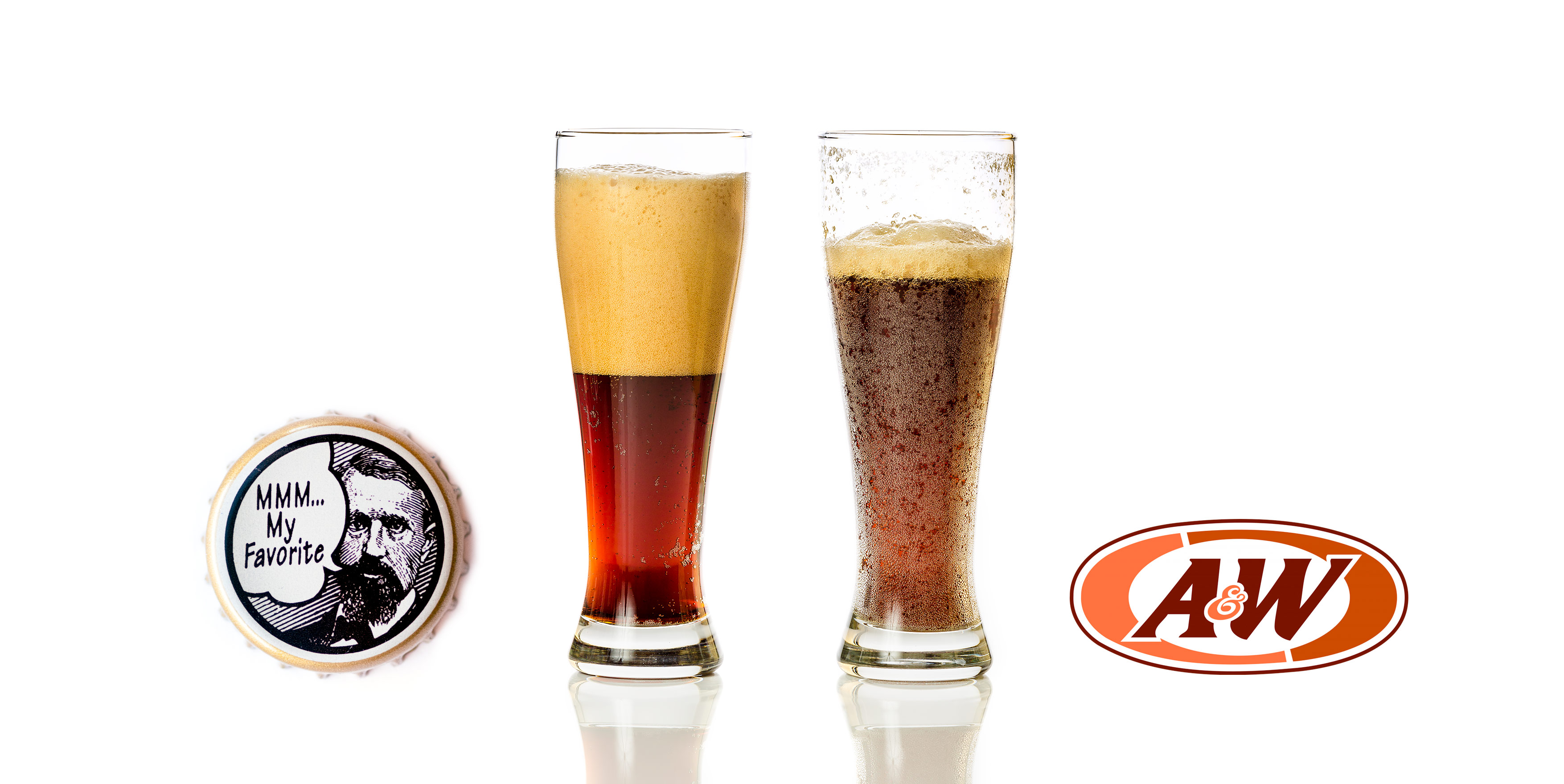 Henry Weinhard's Root Beer compared to A&W Root Beer