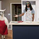 Richard Sherman with llama
