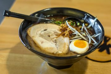 Black Garlic Ramen at Arashi Ramen